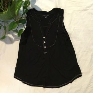 Cable and Gauge Black Sleeveless/Tank  Size M